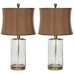 Indoor 1-light Glass Cage Table Lamps (Set of 2)