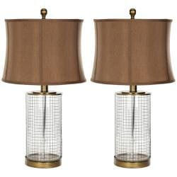 Safavieh Indoor 1-light Glass Cage Table Lamps (Set of 2)