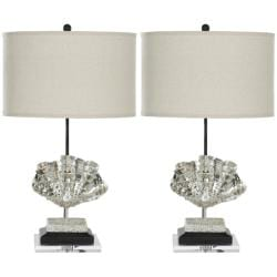 Safavieh Indoor 1-light Silver Sea Shell Table Lamps (Set of 2)