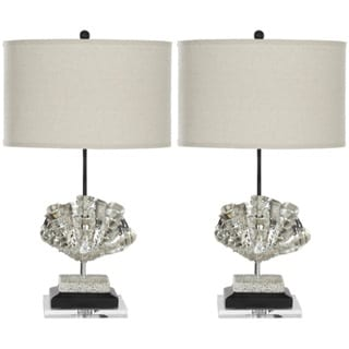 Indoor 1-light Silver Sea Shell Table Lamps (Set of 2)