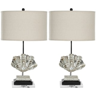 Safavieh Lighting 27.5-inches Silver Sea Shell Table Lamps (Set of 2)