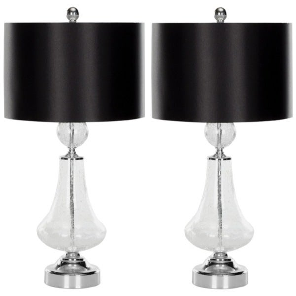 Safavieh Indoor 1-light Crackled Glass Table Lamps (Set of 2)