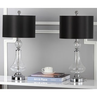 Safavieh Lighting 24-inches Crackled Glass Table Lamps (Set of 2)