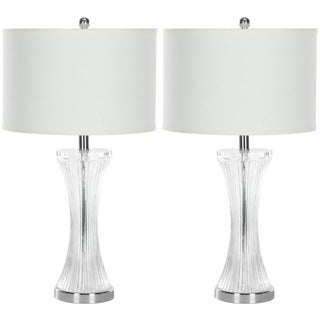 Safavieh Indoor 1-light Curved Glass Table Lamps (Set of 2)