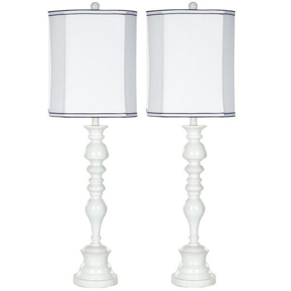Safavieh Indoor 1-light Candlestick White Table Lamps (Set of 2)