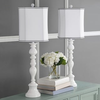 Safavieh Lighting 36-inch Candlestick White Table Lamps (Set of 2)