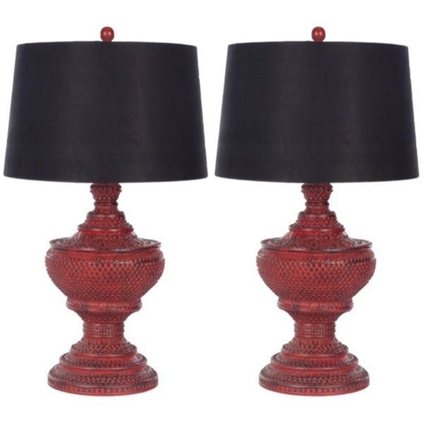 Safavieh Indoor 1-light Heritage Red Table Lamps (Set of 2)