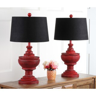 Safavieh Lighting 29-inches Heritage Red Table Lamps (Set of 2)