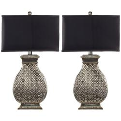 Safavieh Indoor 1-light Royal Spain Silver Finish Table Lamps (Set of 2)
