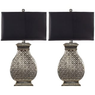 Indoor 1-light Royal Spain Silver Finish Table Lamps (Set of 2)