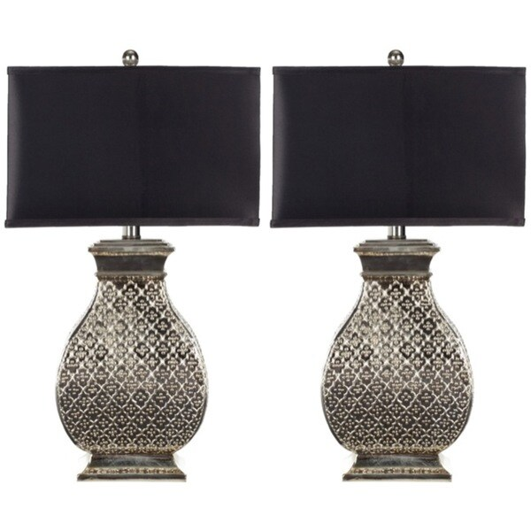 indoor 1 light royal spain silver finish table lamps set of 2. Black Bedroom Furniture Sets. Home Design Ideas