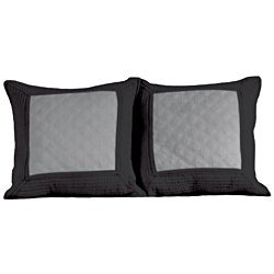 Brentwood Quilted Storm Grey/ Black Decorative Pillows (Set of 2)