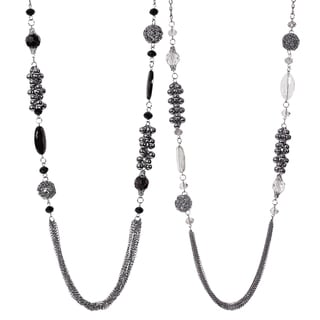 Journee Collection Rhodium-plated Base Metal Glass Stone Necklace