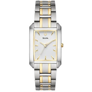 Bulova Women's Yellow Gold-plated Stainless Steel Bracelet Watch