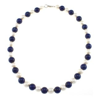 Pearlz Ocean Gemstone and Freshwater Pearl Necklace