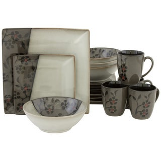 Sango Black Bordeaux 16-piece Dinnerware Set