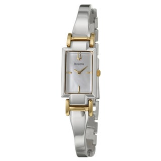 Bulova Women's Yellow Gold-plated Stainless Steel Dress Watch