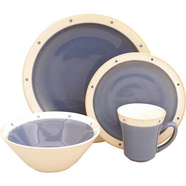 Sango Newport Blue 16-piece Dinnerware Set