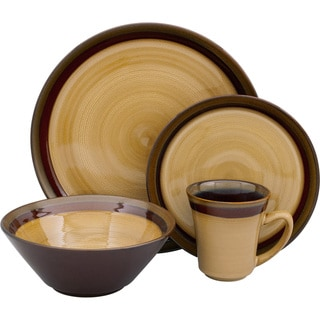 Sango Carousel Brown 16-piece Dinnerware Set