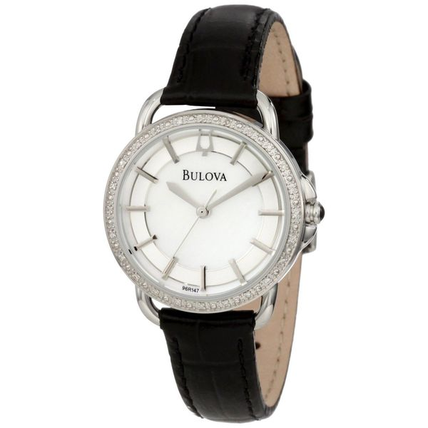 Bulova Women's Stainless Steel Diamond Quartz Watch