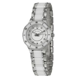 Bulova Women's 98P124 Stainless Steel and Ceramic Diamond Watch