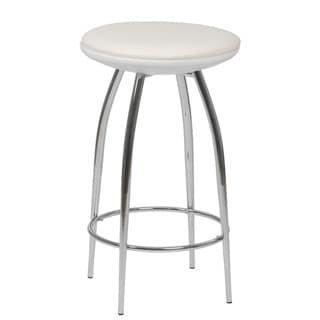 Euro Style Bernie White Bar Stool (Set of 2)