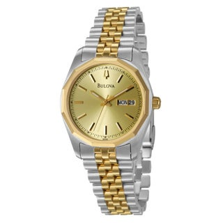 Bulova Men's Yellow Gold-plated Stainless Steel Watch