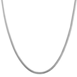 Highly Polished Sterling Silver Round Snake Chain Necklace (16-20 inches)