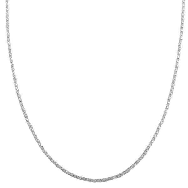Fremada Sterling Silver 1.1mm Twisted Box Link Chain (16-30 inch)