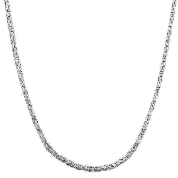 Fremada Sterling Silver 1.8mm Square Byzantine Chain (18-36 inch)