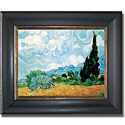 Vincent Van Gogh 'Wheatfield and Cypress' Framed Canvas Art
