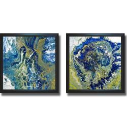Roberto Gonzales 'Tropical Storm' Framed 2-piece Canvas Art Set