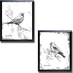 Lanie Loreth 'Songbird III and IV' Framed 2-piece Canvas Art Set