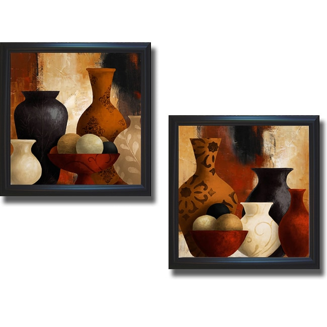 Lanie Loreth 'Spiced Vessels I and II' Framed 2-piece Canvas Art Set