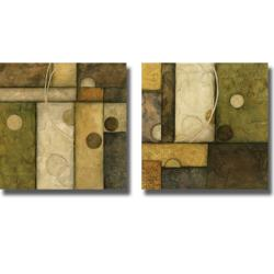 Norm Olson 'Spherical Motion I and II' 2-Piece Canvas Art Set