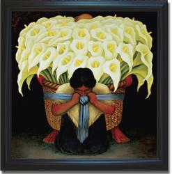 Diego Rivera 'El Vendedor de Alcatraces' Framed Canvas Art