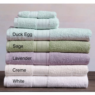 Laura Ashley Solid 3-piece Cotton Towel Set