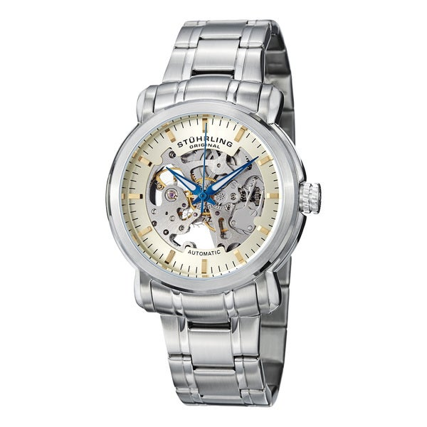Stuhrling Original Men's 'Delphi Antium' Water-Resistant Automatic Skeleton Bracelet Watch