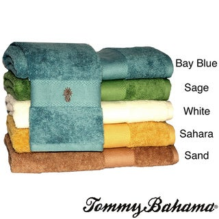 Tommy Bahama Embroidered-pineapple Cotton Three-piece Bath Towel Set