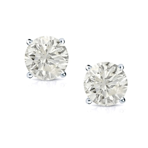 14k Gold 1ct TDW Certified Clarity-enhanced Diamond Stud Earrings (J-K, SI1-SI2)