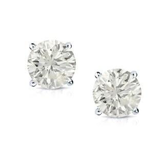 14k Gold 1ct TDW Certified Clarity-enhanced Diamond Stud Earrings (J-K, SI1-SI2)