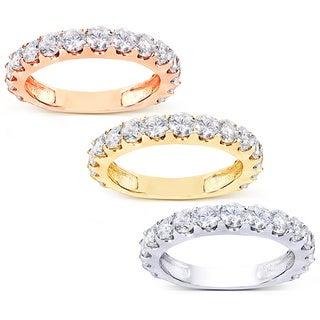 Annello 14k Gold 1 1/2ct TDW Semi-Eternity Diamond Wedding Band (G-H, I1-I2)