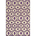 Hand Tufted Modern Waves Purple Polyester Rug (8' x 10')