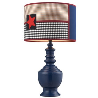 Dimond Lighting Patriotic 1-Light Dark Blue Table Lamp