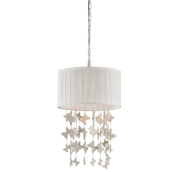Elk Lighting Butterfly 1-Light Chrome Drum Pendant