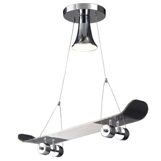 Elk Lighting Skateboard 1-Light Satin Chrome Pendant