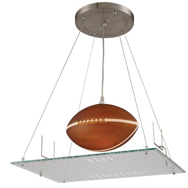 Elk Lighting Football Field 1-Light Satin Nickel Pendant