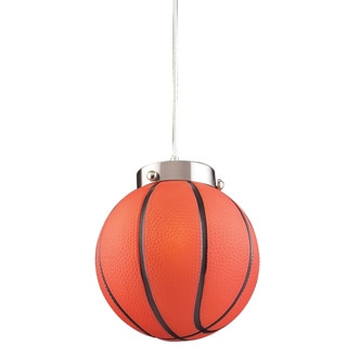 Elk Lighting Basketball 1-Light Satin Nickel Pendant