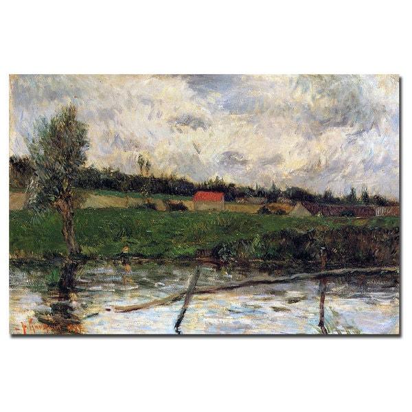 Paul Gauguin 'Brittany Landscape, 1879' Canvas Art