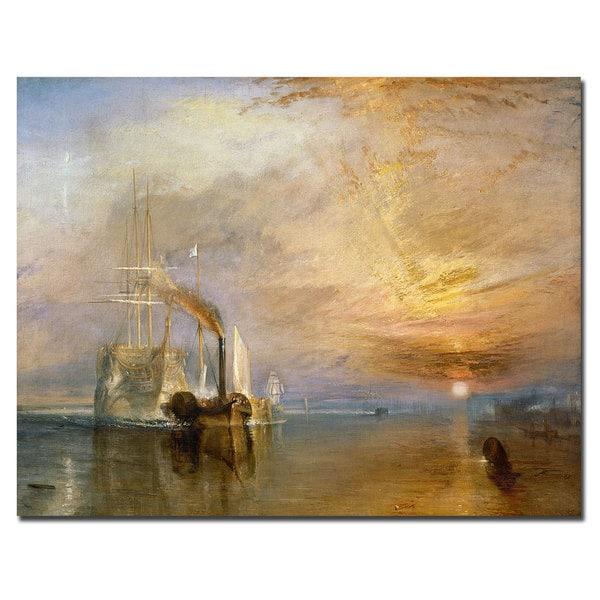Joseph Turner 'The Fighting Temeraire 1839' Canvas Art